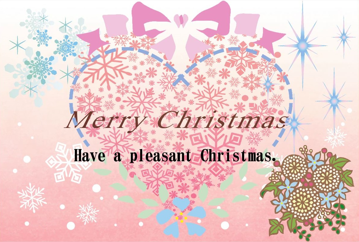 ハートクリスマスカード