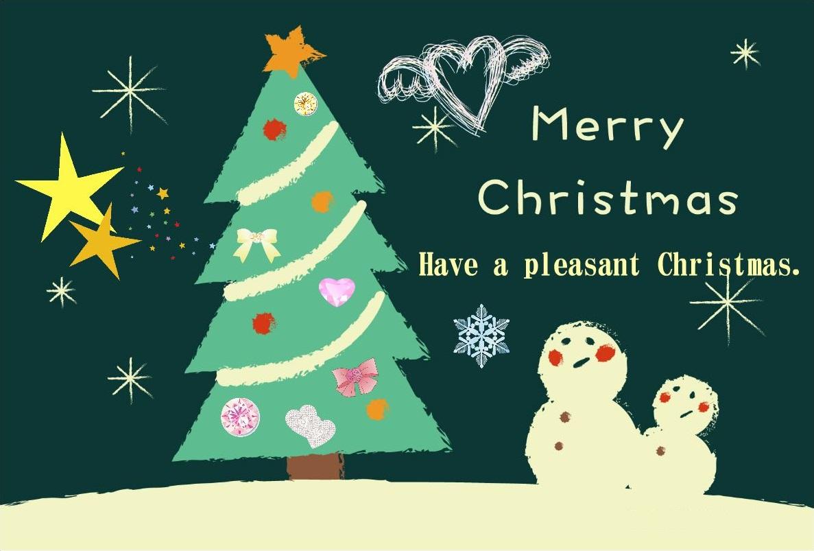 雪だるまクリスマスカード