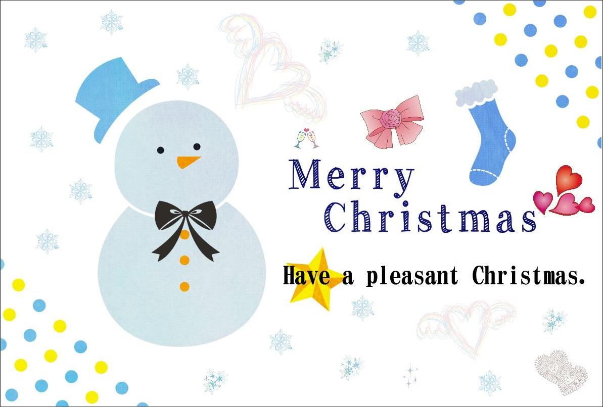 雪だるまクリスマスカード2